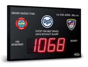 led display days without injury safety score board custom 160 en