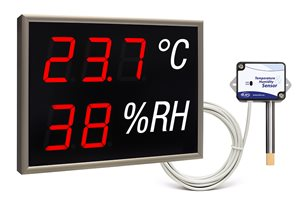 led display monitoring temperature humidity nda 100 3 2 th r with external sensor