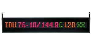 led display tdu 76 10 144x1x1 rg