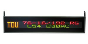 led display tdu 76 16 192x1x1 rg