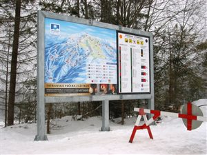 led display ski trails legend