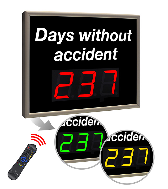 LED display number of days without injury accident - standard