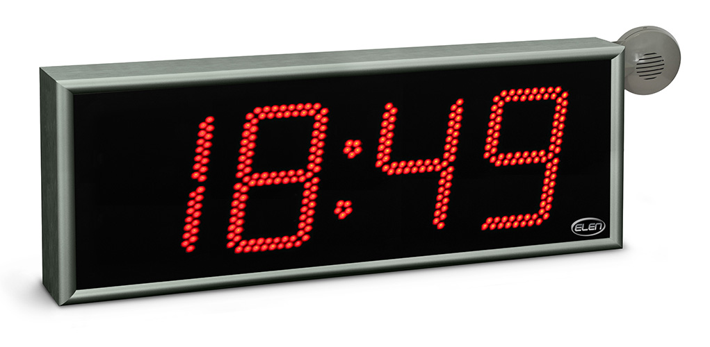 Digital clock for displaying time - LAN - NTP -<br/>NDC 160/4 R L20 PoE Ethernet NTP
