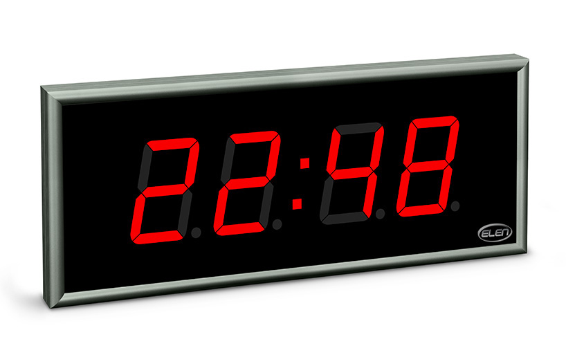 Digital clock for displaying time, date and temperature</br>NDC 100/4 R