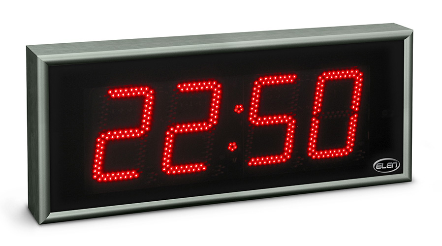 Digital clock for displaying time, date and temperature</br>NDC 160/4 R H20