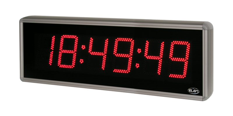 Digital clock for displaying time, date and temperature <br />NDC 160/6 R