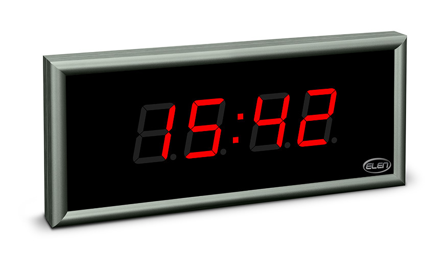 Digital clock for displaying time, date and temperature</br>NDC 57/4 R