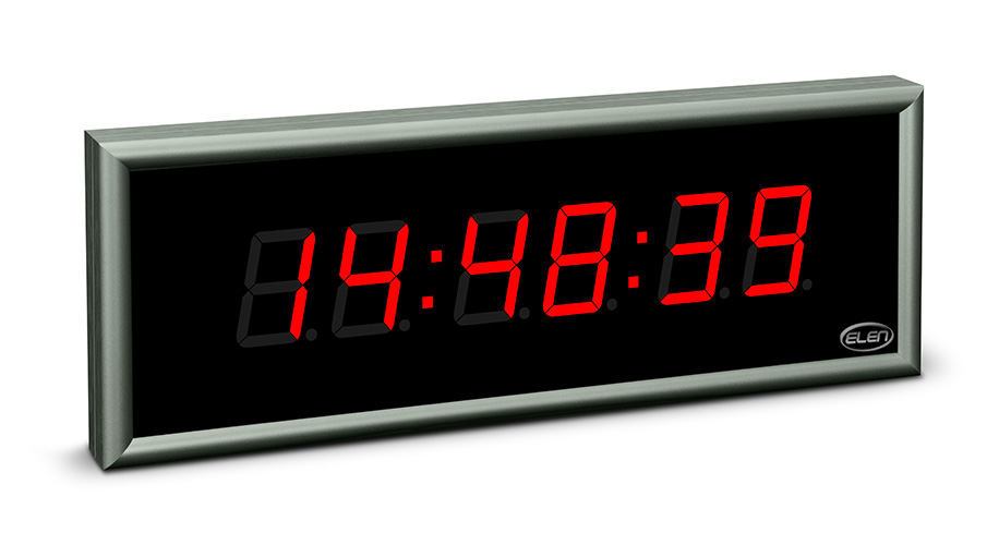 Digital clock for displaying time, date and temperature</br>NDC 57/6 R