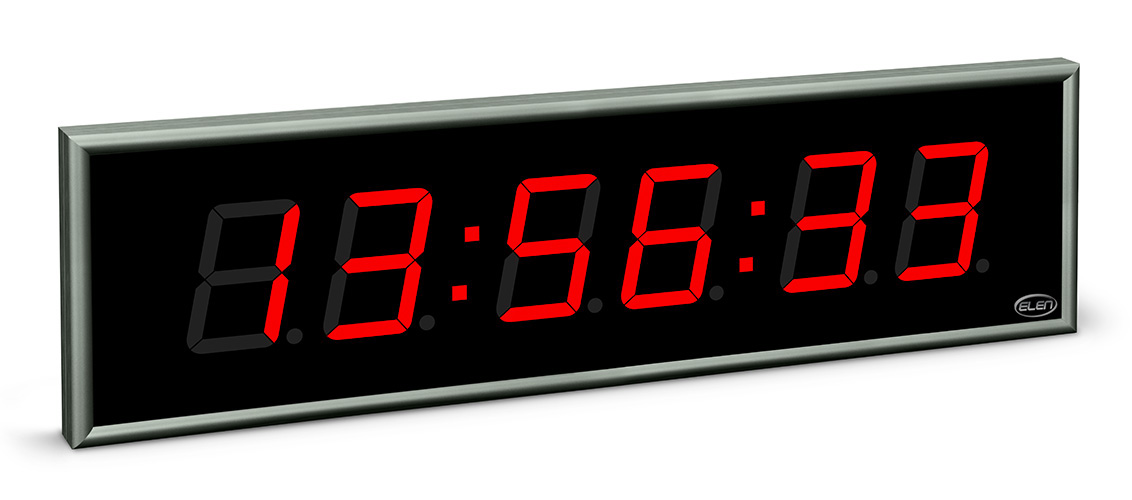 Digital clock for displaying time, date and temperature</br>NDC 100/6 R