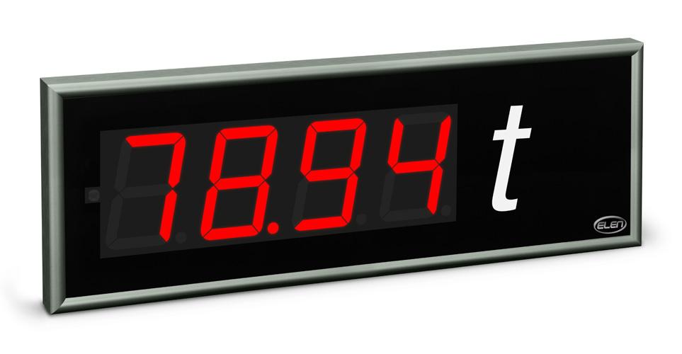 Universal numeric LED display NDE 100/4 R