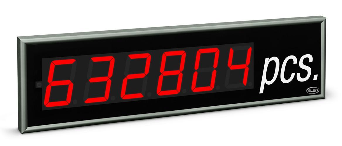 Universal numeric LED display NDE 100/6 R