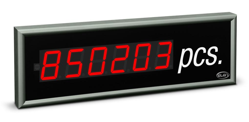 Universal numeric LED display NDE 57/6 R