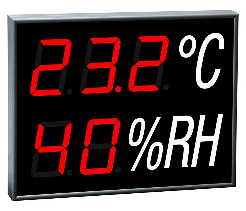 Zobrazovanie teploty a vlhkosti vzduchu -<br/>so zabudovaným snímačom -<br/>CDN 100 THS R L20 230AC