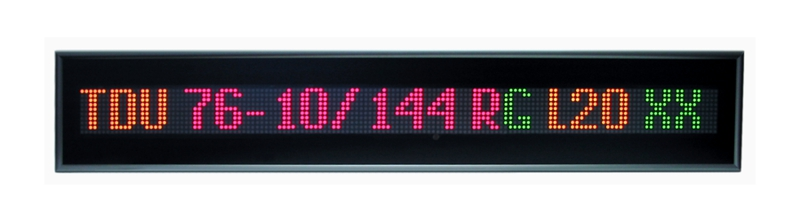 Text message display –<br/>TDU 76-10/144 RG L20 230AC