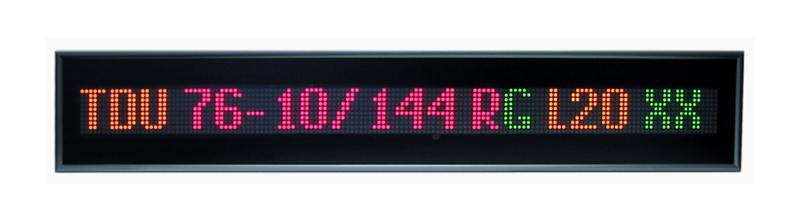 Textový displej – TDU 76-10/144 RG L20 230AC