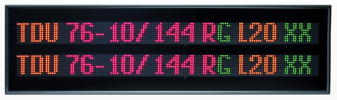 Textový displej – TDU 76-10/144x2 RG L20 230AC