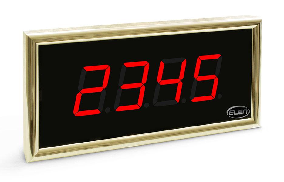 Číselník do kostola<br/>NDT 57/4 R – zlatý rám