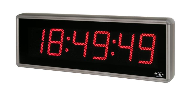 Digitálne hodiny pre zobrazovanie času, dátumu a teploty NDC 160/6 R