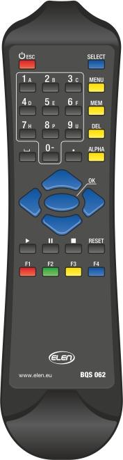 Ručný ovládač - diaľkový, IR, dosah 20 m <br/>HCU Keyboard IR