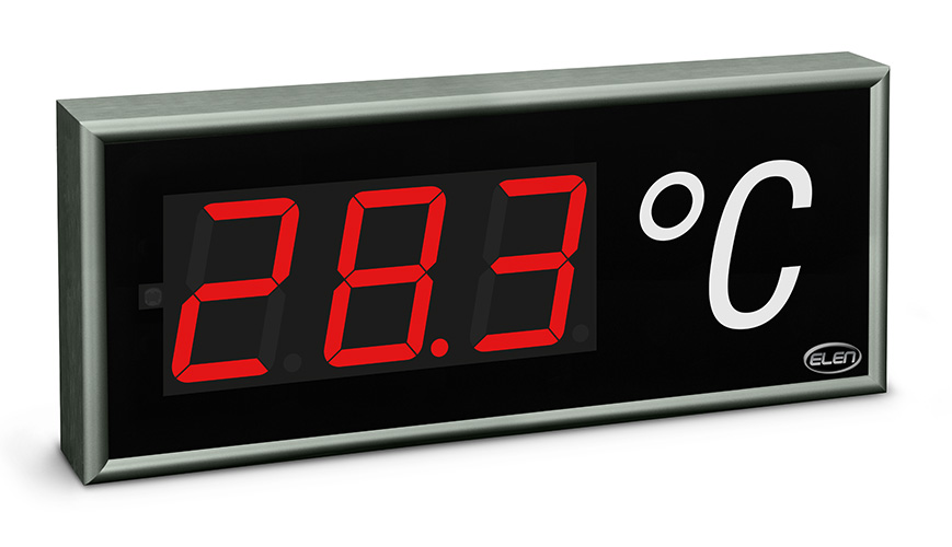 Meranie a zobrazovanie teploty vzduchu -<br/>Veľkoplošný LED teplomer CDN 100/3 T RG L20 230AC 1WIRE